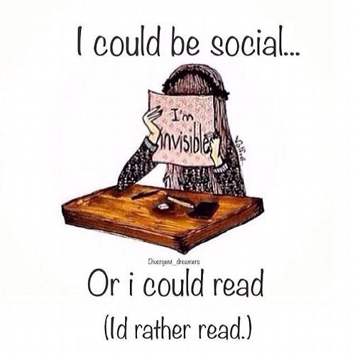 I could be social…