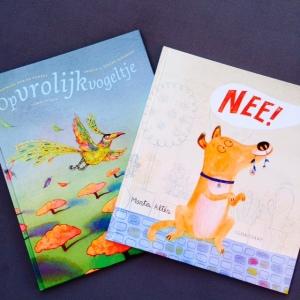 Twee prentenboeken: Opvrolijkvogeltje & Nee!