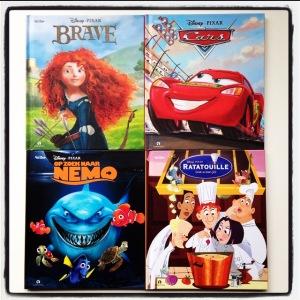 4 Disney Pixar Lees- & Luisterboekjes