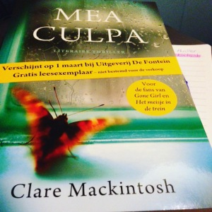Blogtour: Mea Culpa – Clare Mackintosh