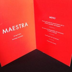 Maestra menu